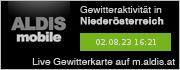 ALDIS mobile Gewitterkarte für Niederösterreich