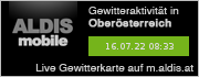 ALDIS mobile Gewitterkarte für Oberösterreich