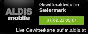 ALDIS mobile Gewitterkarte für Steiermark