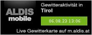 ALDIS mobile Gewitterkarte für Tirol